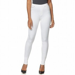 Diane Gilman NEW White Womens Size 2X Tall Plus Leggings Skinny Pants
