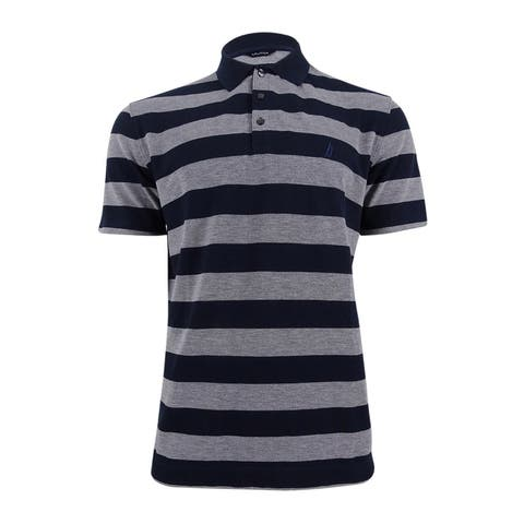 Nautica Men's Classic-Fit Striped Polo - Navy