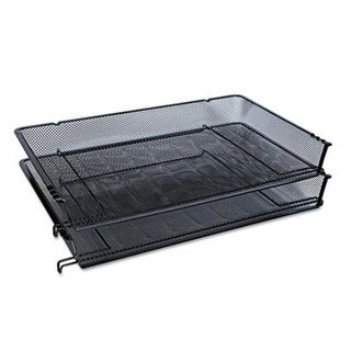 Universal 20012 Mesh Stackable Side Load Tray, Legal, Black