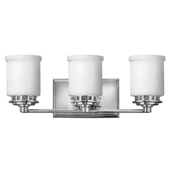 "Hinkley Lighting H5193 3-Light 19.25"" Width Bathroom Vanity Light from the Ashley Collection - Chrome"