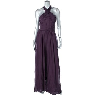 Rachel Zoe Womens Pintuck Side Slits Jumpsuit - 6