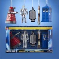 Kurt Adler  5 Piece Multi-Colored Doctor Who Miniature Christmas