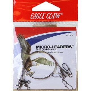"""Eagle Claw 8"""" Wire Micro-Leaders with Crane Swivel 3-Pack - Black https://ak1.ostkcdn.com/images/products/is/images/direct/18924985f14ab9ec4e798862b3fa595d3e133bb0/Eagle-Claw-8%22-Wire-Micro-Leaders-with-Crane-Swivel-3-Pack.jpg?_ostk_perf_=percv&impolicy=medium"""