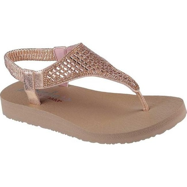 a2eee9705ab Shop Skechers Women s Meditation Rock Crown Thong Sandal Rose Gold ...