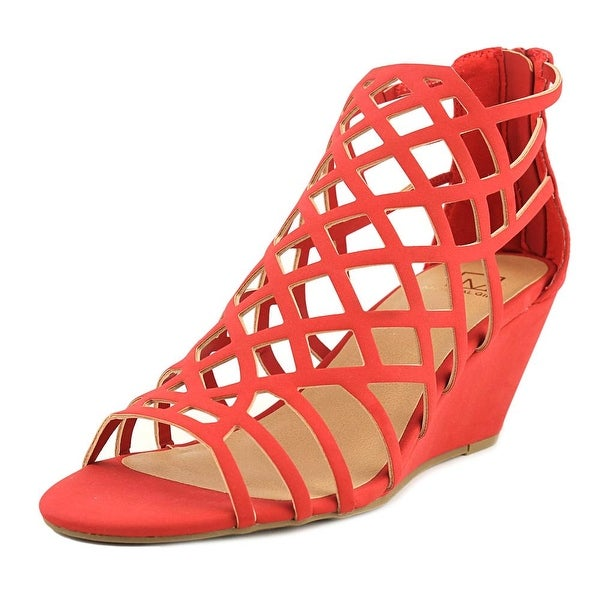 Material Girl Henie Red Sandals