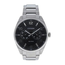 Citizen Ao9020-84e Eco-Drive Dress Black Dial Stainless Steel Watch Watch For Men