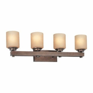 """Dolan Designs 3114 Reversible Four Light 31.75"""" Wide Bath Wall Sconce from the Sherwood Collection"""