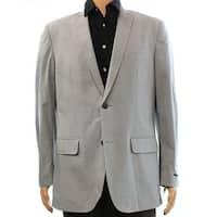 INC NEW Gray Classic Fit Mens Size Large L Two Button Alex Blazer