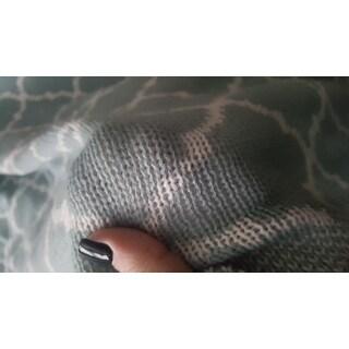 Knitted Trellis Throw Blanket Soft All Season Blanket