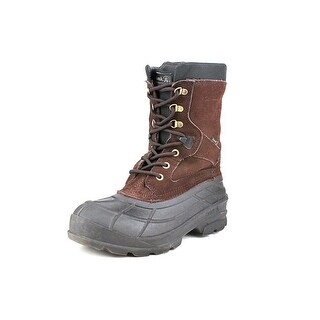 Kamik Nation Plus Men  Round Toe Canvas Brown Snow Boot