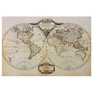 """Antique map of the world"" Poster Print"