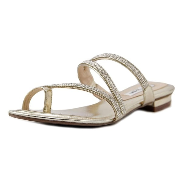 Nina Kaileen Women  Open Toe Synthetic Gold Sandals