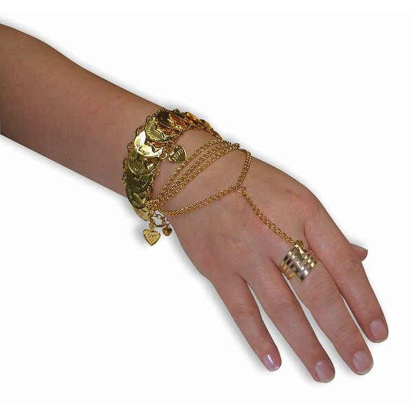 Desert Princess Hand Costume Jewelry Adult Women - Gold