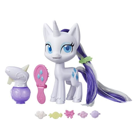 My Little Pony Magical Mane Rarity Toy, 6.5-Inch Figure With Hair That Grows And Changes Color, 10 Surprise Accessories