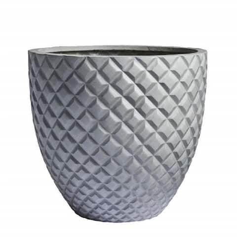 DreamPatio Irvine 1-Piece Fiberstone Pineapple Planter