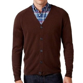 Weatherproof NEW Brown Mens Size 2XL Cardigan Button-Down Sweater