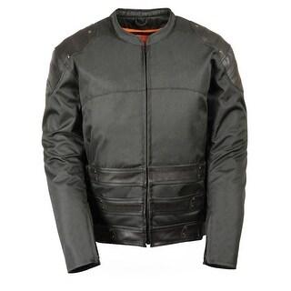 Mens Textile SWAT Style Jacket W/ Leather Tri Belts