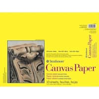 Strathmore 300 Series White Canvas Paper Pad, 12 x 16 Inches