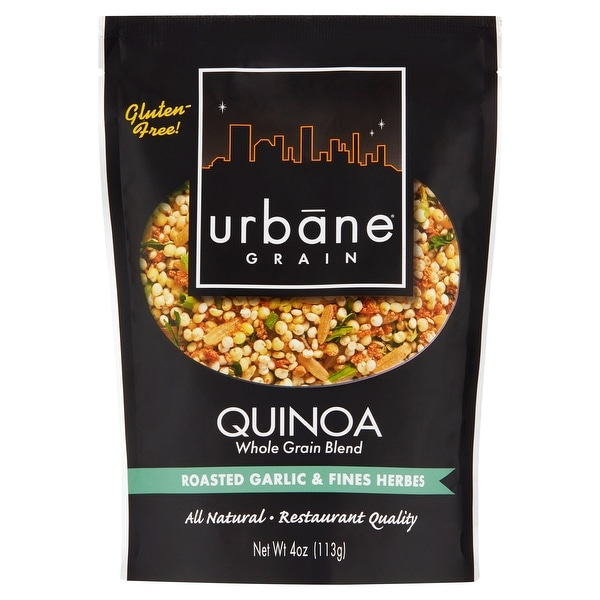 Urbane Grain Quinoa - Roasted Garlic & Herbs - Case of 6 - 4 oz