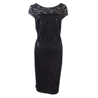 Nine West Women's Sequin Embellished Sheath Dress