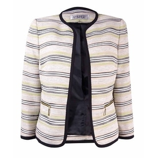 Kasper Women's Tweed Stripe Open Front Blazer