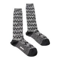Missoni GM00WMD5223 0006 Black/White Knee Length Socks