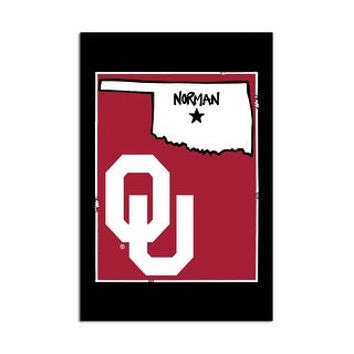 University of Oklahoma - State Logo Garden Flag