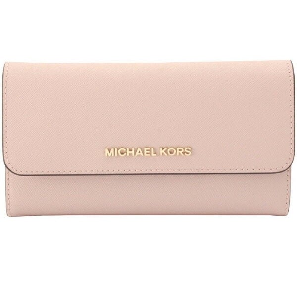 11420883cff2 Michael Kors Jet Set Travel Large Trifold Leather Wallet 35S8GTVF7L