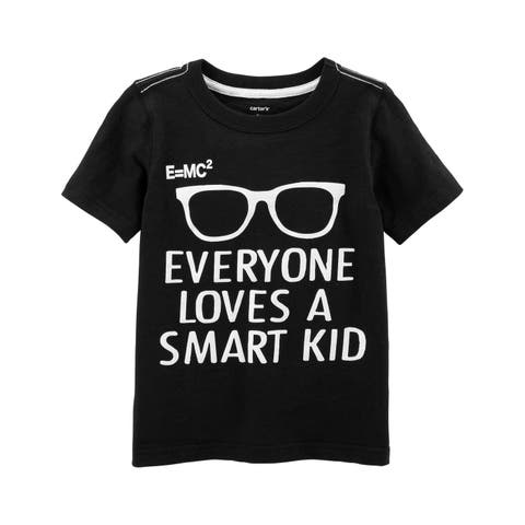 Carter's Little Boys' Smart Kid Slub Jersey Tee, 4-5 Kids