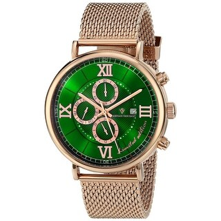 Christian Van Sant Men's Somptueuse Limited Edition CV1130 Green Dial Watch