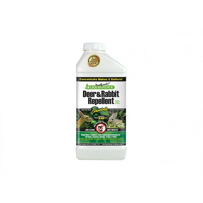 Shop Liquid Fence Hg 71136 Deer Rabbit Repellent Concentrate 40 Oz Overstock 25415646