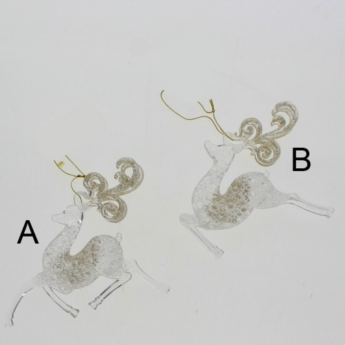 Clear Reindeer Ornament