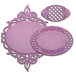 Spellbinders Nestabilities Decorative Elements Dies-Majestic Oval