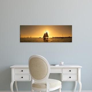 Easy Art Prints Panoramic Images's 'Sailboat, Key West, Florida, USA' Premium Canvas Art