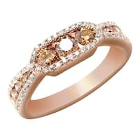 Prism Jewel 1.56Ct Brown Natural Diamond & Diamond Fancy Ring - White G-H