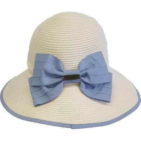 Women's Floppy Straw Braid Sun Hat