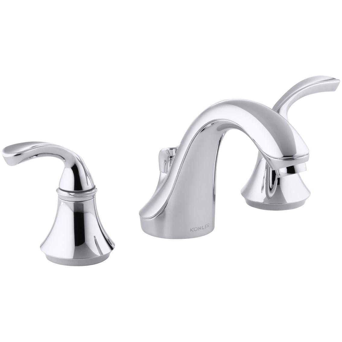 Kohler K 10269 4 Forte Widespread Bathroom Faucet With Ultra Glide Polished Chrome Overstock 27085253