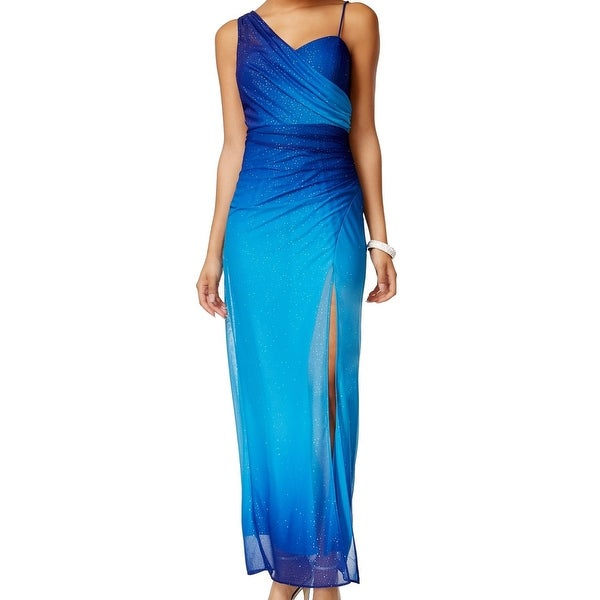 b4f7b7433a5 Onyx Nite NEW Blue Glitter Ombre Women  x27 s Size 16 Evening Ball Gown