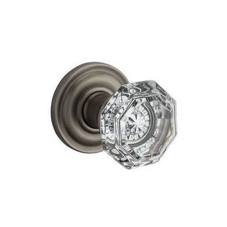 Baldwin PV.CRY.TRR Crystal Privacy Door Knob Set with Traditional Round Trim from the Reserve Collection (More options available)