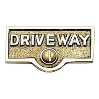 Switch Plate Tags DRIVEWAY Name Signs Labels Brass | Renovator's Supply