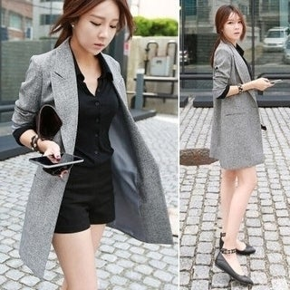 Link to Autumn Women's Fashion Slim Thin In The Long Section Leisure Suit Plus Size Women Outerwear Similar Items in Women's Outerwear