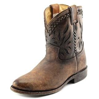 Frye Wyatt Overlay Short Women Round Toe Leather Western Boot