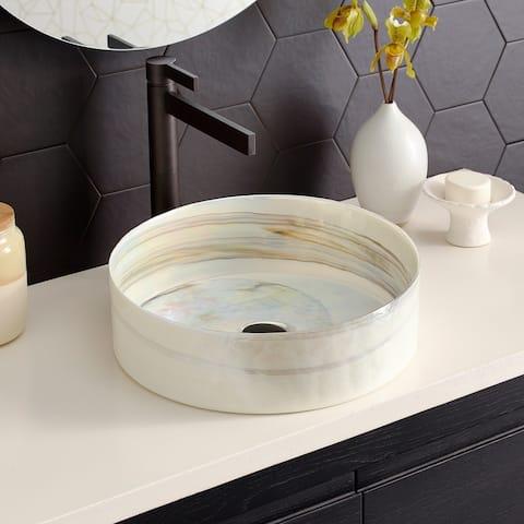 Positano Handmade Murano Glass Bathroom Sink - 16x16x4.5