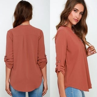 Notch Collar Tunic Top in 5 Colors - Up to 2XL