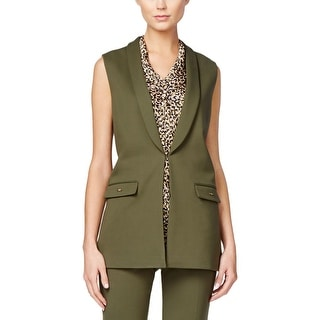 Tahari ASL Womens Suit Vest Shawl Collar Faux Pockets - 18