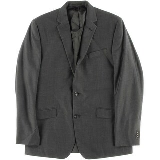Kenneth Cole New York Mens Lined Slim Fit Two-Button Blazer