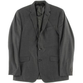 Kenneth Cole New York Mens Pindot Notch Collar Two-Button Blazer - 42L