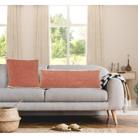 Soft Striped Cinnamon Throw Pillow