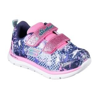 Skechers 82058 NVMT Girl's Toddler SKECH-LITE - FLEXIES Sneakers
