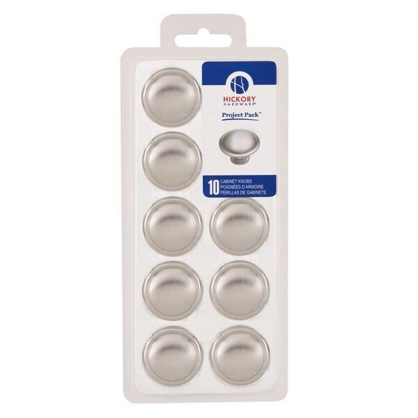 "Hickory Hardware VP14848 Project Packs 1-3/8"" Diameter Mushroom Cabinet Knob"